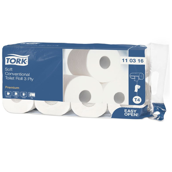 TORK Soft Conventional Toilet Roll 3 Ply Premium