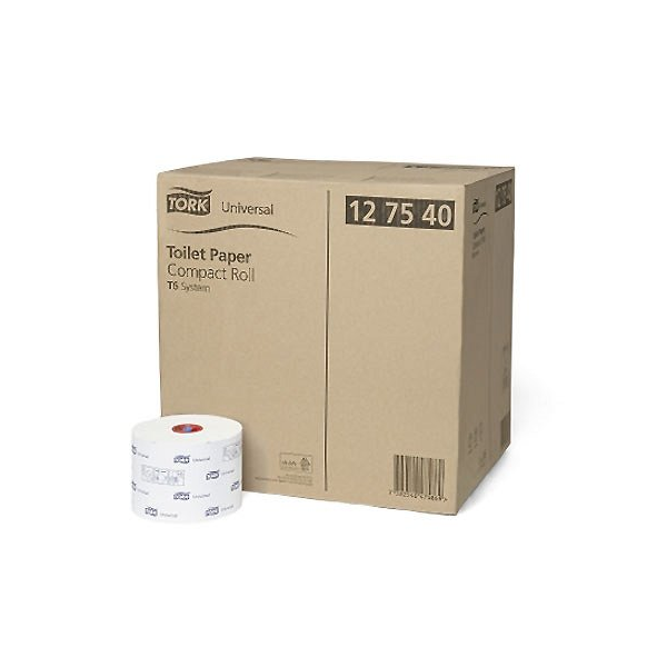 TORK Universal Toilet Paper Compact Roll T6 System